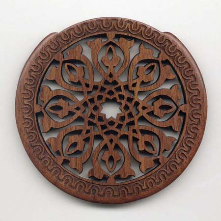 01 walnut with gothic rosette