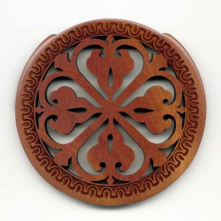 03 mahogany with gothic rosette