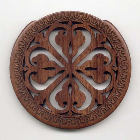 03 walnut with gothic rosette