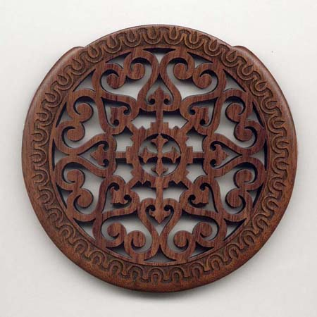 09 walnut with gothic rosette