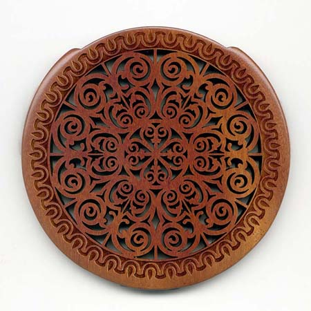 10 mahogany with gothic rosette