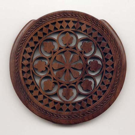 14 walnut with classic rosette